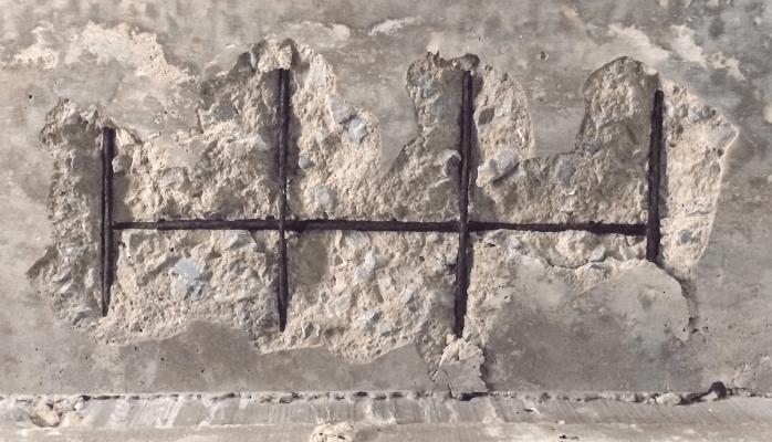 Concrete carbonation, concrete spalling, concrete cancer